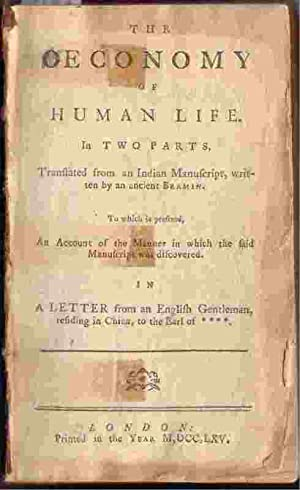 The Oeconomy Of Human Life, In Two: Dodsley, Robert Or
