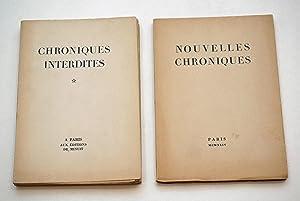 Chroniques interdites *. - Nouvelles chroniques**. 2: PAULHAN Jean, PONGE
