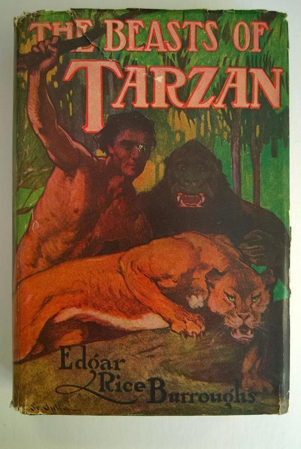 The BEASTS of TARZAN Edgar Rice Burroughs Good Hardcover