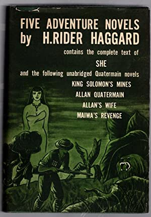 Five Adventure Novels by H. Rider Haggard