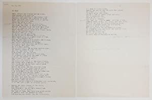 To Omar by Clark Ashton Smith (Original TLS, Hand-Corrected) Signed Presentation to Samuel Lovema...
