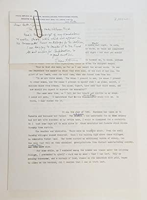 LIES! (Original MS Typescript) by Brian Aldiss Signed