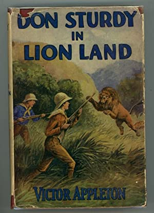 Don Sturdy in Lion Land by Victor Appleton (First Edition)