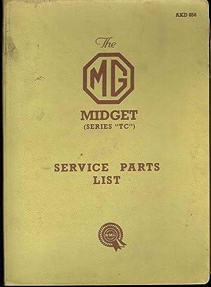 Midget Series TC Service Parts List