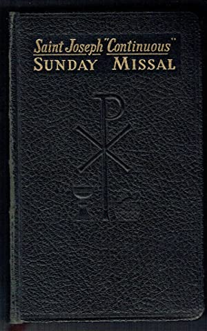Saint Joseph Continuous Sunday Missal: A Simplified and Continuous Arrangement of the Mass for All ...