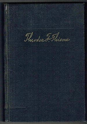 Theodore F. Thieme: A Man and His Times: Lockridge, Ross F.