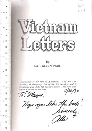 Vietnam Letters: Paul, Allen