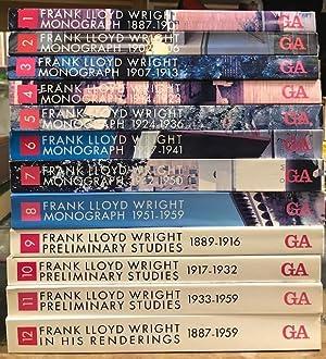 Frank Lloyd Wright Monograph Set, in Twelve: Pfeiffer, Bruce Brooks
