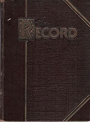 The 1933 Record, Valparaiso University Yearbook: Student Council, Valparaiso University