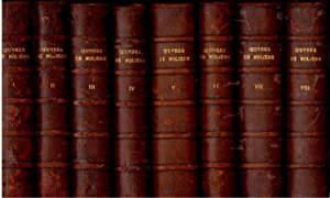 Les Oeuvres de Moliere avec Notes & Variantes par Alphonse Pauly, in Eight Volumes: Moliere (...