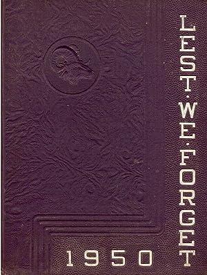 Cridersville School Lest We Forget Yearbook, 1950: Rhorbacher, Josephine et al. (Eds.)
