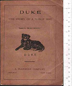 Duke: The Autobiography of a Dog, a Prize Story of Massachusetts