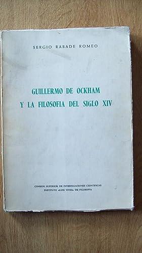 GUILLERMO DE OKHAM Y LA FILOSOFÍA DEL SIGLO XIV: Raade Romeo, Oscar