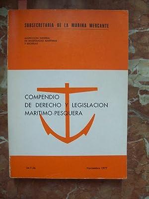 COMPENDIO DE DERECHO Y LEGISLACIÓN MARÍTIMO-PESQUERA: Vigier de Torres,