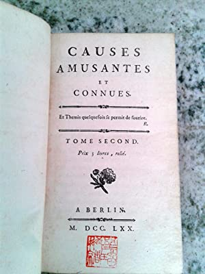 CAUSES AMUSANTES ET CONNUES. Tome II
