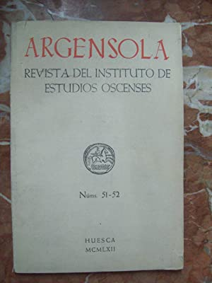 ARGENSOLA. REVISTA DEL INSTITUTO DE ESTUDIOS OSCENSES. Nº 51-52