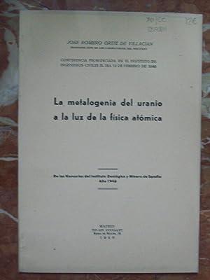 LA METALOGENIA DEL URANIO A LA LUZ: Romero Ortiz de