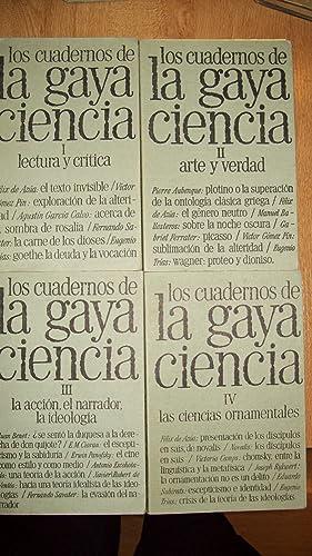 LOS CUADERNOS DE LA GAYA CIENCIA. 4 Vols.: VV.AA.