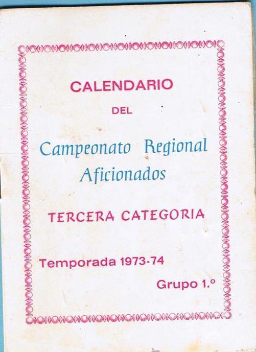Calendario 1973.Calendario Del Campeonato Regional