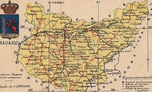 Mapa De Badajoz Capital.Mapa Con Escudo De La Provincia De Badajoz Alberto Martin Editor Barcelona Postales Espana Antigua Hasta 1939 Extremadura Manuscript Nbsp Nbsp Paper Nbsp Collectible El Saber Si Ocupa Lugar