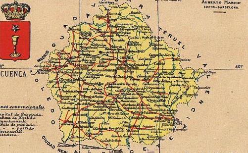 Mapa Con Escudo De La Provincia De Cuenca
