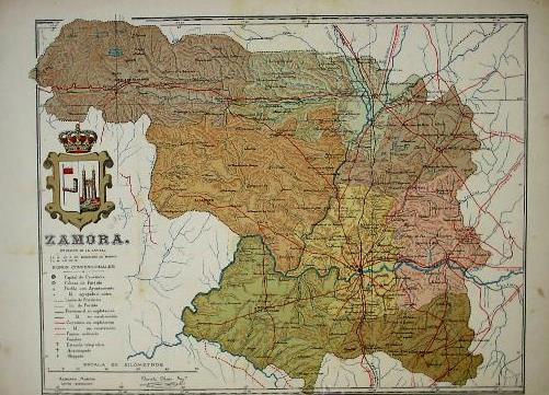 Provincia De Zamora Mapa.Mapa De La Provincia De Zamora Benito Chias