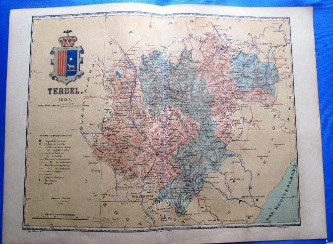 Mapa Provincia De Teruel.Mapa De La Provincia De Teruel Por Benito