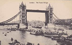 LONDON, THE TOWER BRIDGE. W. STRAKER. NO CIRCULADA (Postales/Temáticas/Barcos)