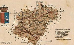 Mapa Con Escudo De La Provincia De Teruel Alberto