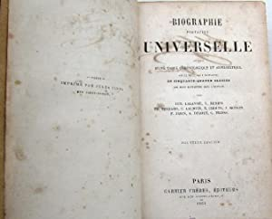 BIOGRAPHIE PORTATIVE UNIVERSELLE. GARNIER FRÈRES, EDITEURS, PARIS, 1861.