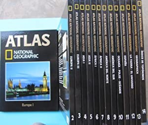 ATLAS NATIONAL GEOGRAPHIC. 14 VOLUMENES, 2004.