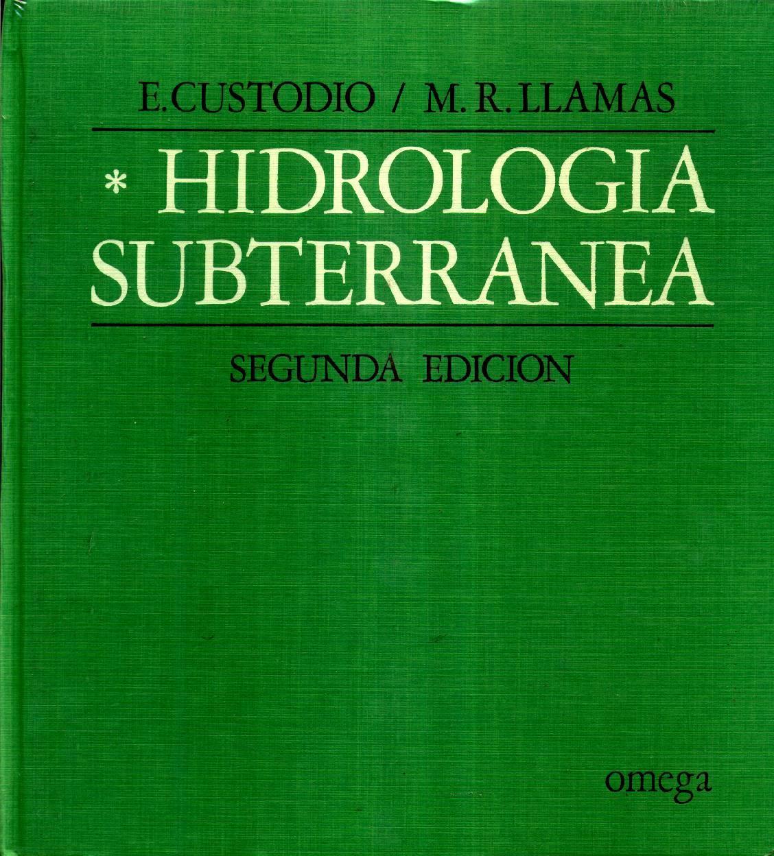 hidrologia subterranea custodio llamas pdf