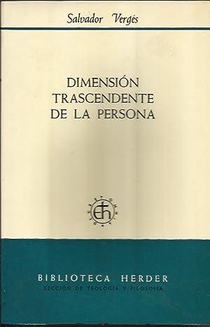 Dimensión Trascendente de la Persona: Vergés, Salvador