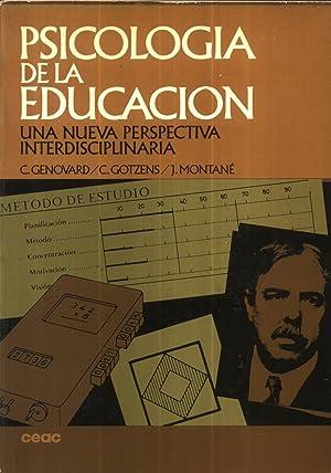 Psicologia de la Educacion: C. Genovard / C. Gotzens / J. Montané