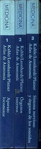 Atlas de Anatomia 3 volumes para estudiantes: W. Kahle ,