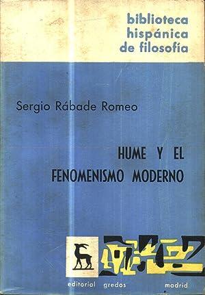 Hume Y El Fenomenismo Moderno: Rabade Romeo, Sergio
