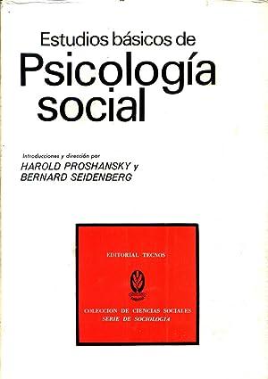 Estudios Basicos de Psicologia Social: PROSHANSKY