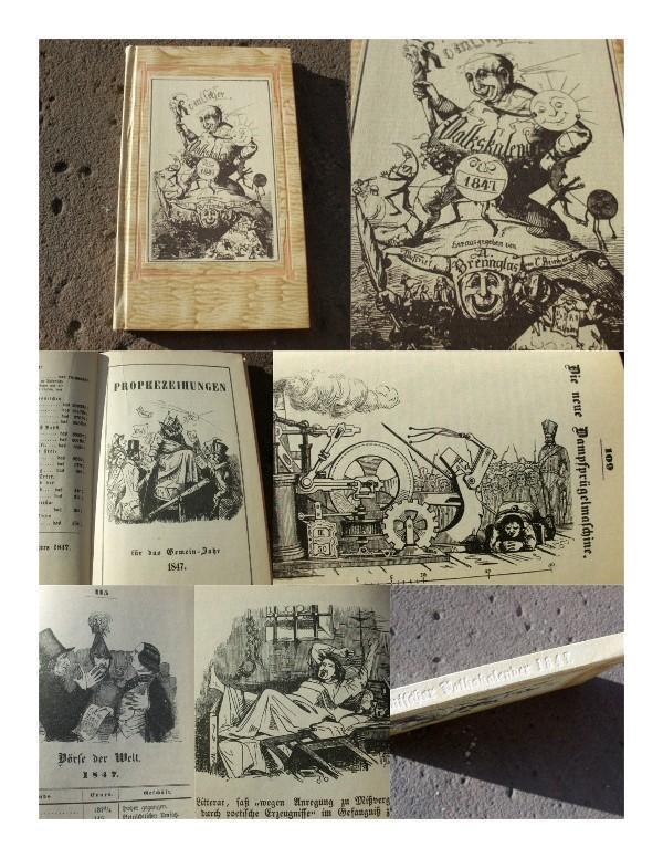 Komischer Volkskalender für 1847. Mit vielen Illustrationen: Brennglas, Adolf (d.