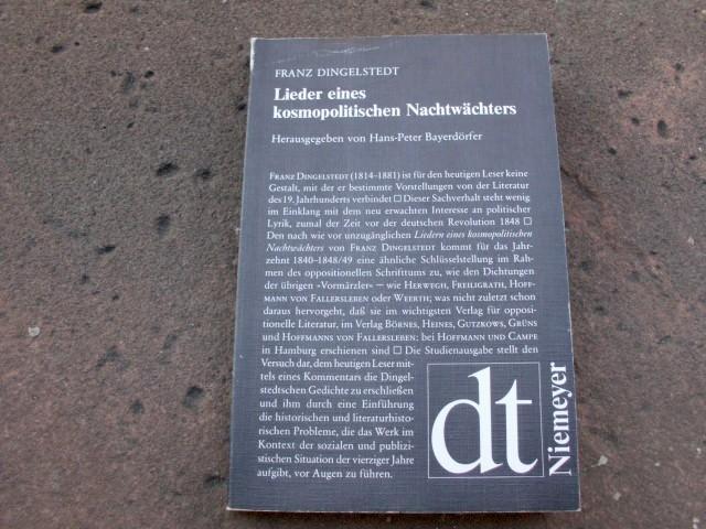 Lieder eines kosmopolitischen Nachtwächters. Studienausgabe mit Kommentar: Dingelstedt, Franz