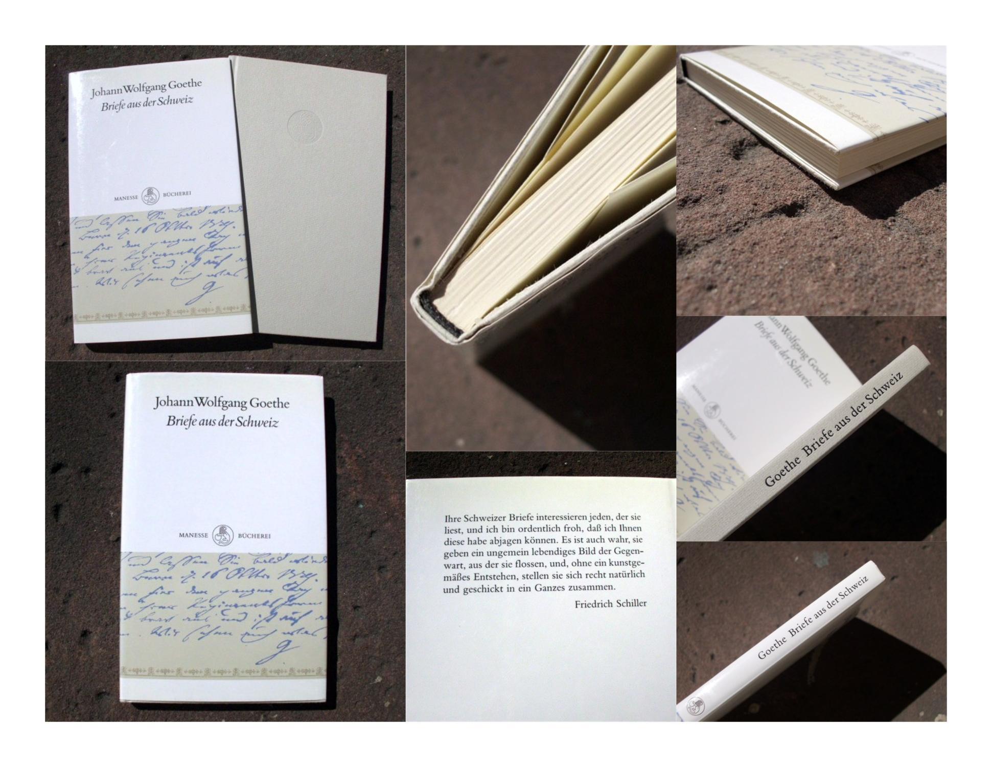 Briefe aus der Schweiz. Mit fünf Zeichnungen von J. W. Goethe. Buchgestaltung von Brigitte und Hans Peter Willberg. (= Reihe: Manesse Bücherei Band 21). - Goethe, Johann Wolfgang von