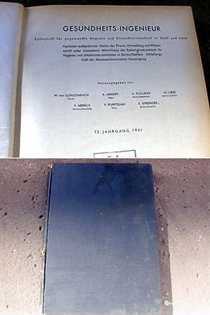 Gesundheits-Ingenieur. Zeitschrift für angewandte Hygiene und Gesundheitstechnik: Gonzenbach, Wilhelm von