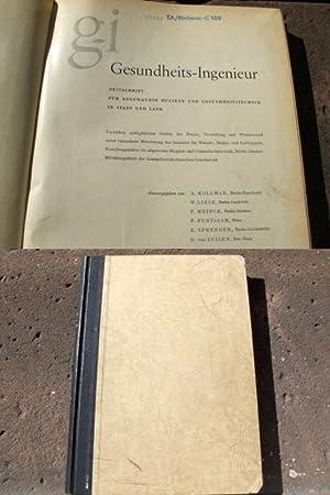 Gesundheits-Ingenieur. Zeitschrift für angewandte Hygiene und Gesundheitstechnik: Kolmar, A. (Berlin-Haselhorst);