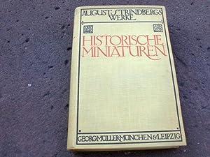 Historische Miniaturen. Aus dem Schwedischen übertragen von: Strindberg, August