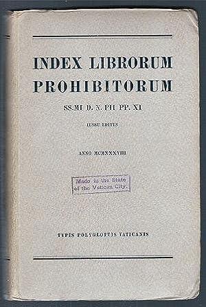 Index Librorum Prohibitorum (SS.MI D. N. PII: Editor