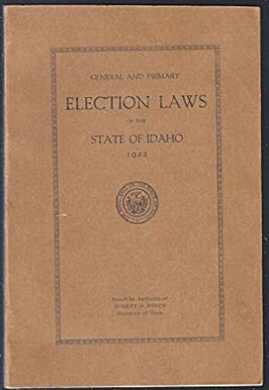 General and Primary Election Laws of the: Jones, Robert O.
