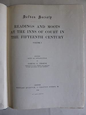 Readings and Moots at the Inns of: Thorne, Samuel E.;