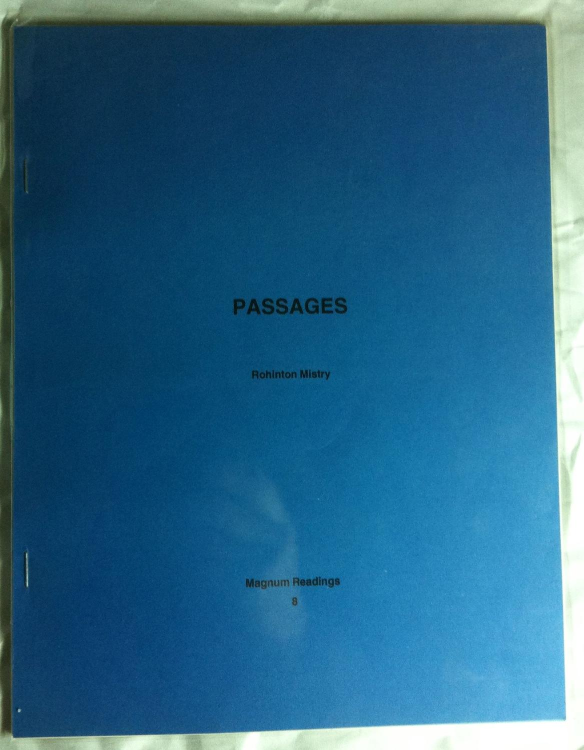 Passages (SIGNED NUMBERED LIMITED EDITION) Mistry, Rohinton