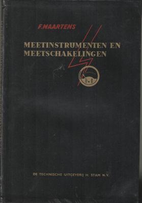 Meetinstrumenten en meetschakelingen: Maartens, F.
