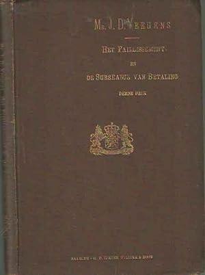De wet op het faillissement en de surséance van betaling. Gevolgd door de invoeringswet, met...