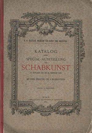 Katalog einer Special-Ausstellung der Schabkunst, 14. October 1894 bis 28. Februar 1895. Mit einer ...